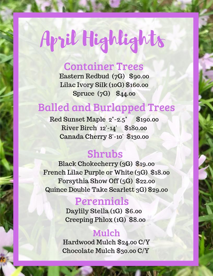 April Highlights flyer(1)