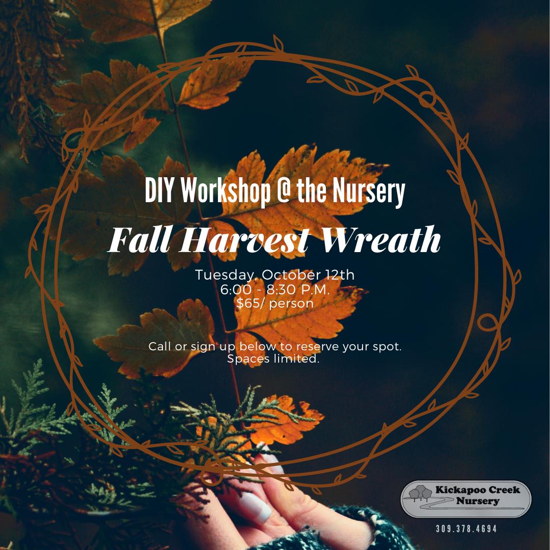 DIY - FALL HARVERST WREATH