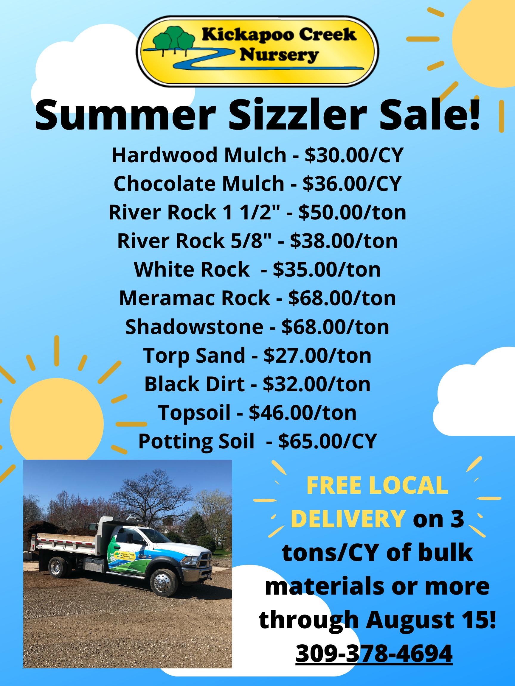 Summer Sizzler Sale!2020