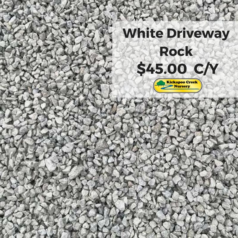 white driveway rock
